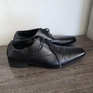 Aldo Mens Black Dress Shoes sz 9.5